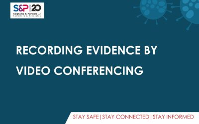 Recording Evidence by Video Conferencing