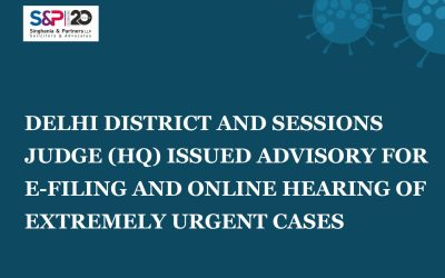 Delhi District and Sessions Judge (HQ) Issued Advisory for E-Filing and Online Hearing of Urgent Cases