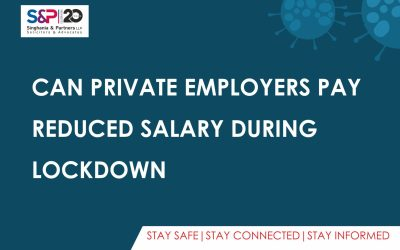 Can Private Employers Pay Reduced Salary During Lockdown?