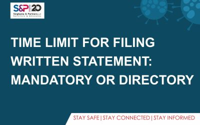 Time Limit for Filing Written Statement: Mandatory or Directory
