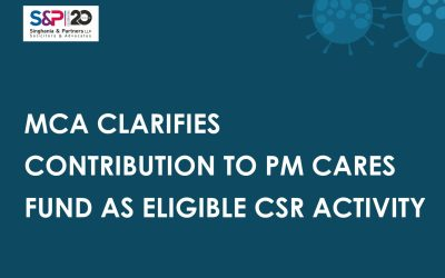 MCA Clarifies Contribution to PM Cares Fund as Eligible CSR Activity