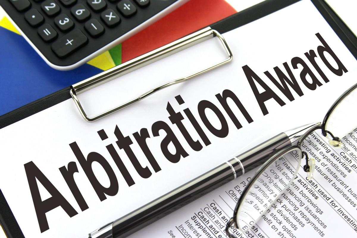 When does delivery of the Arbitral Award to the parties complete