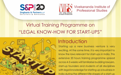 Singhania & Partners and VIPS, Delhi to provide Legal training to Start-ups