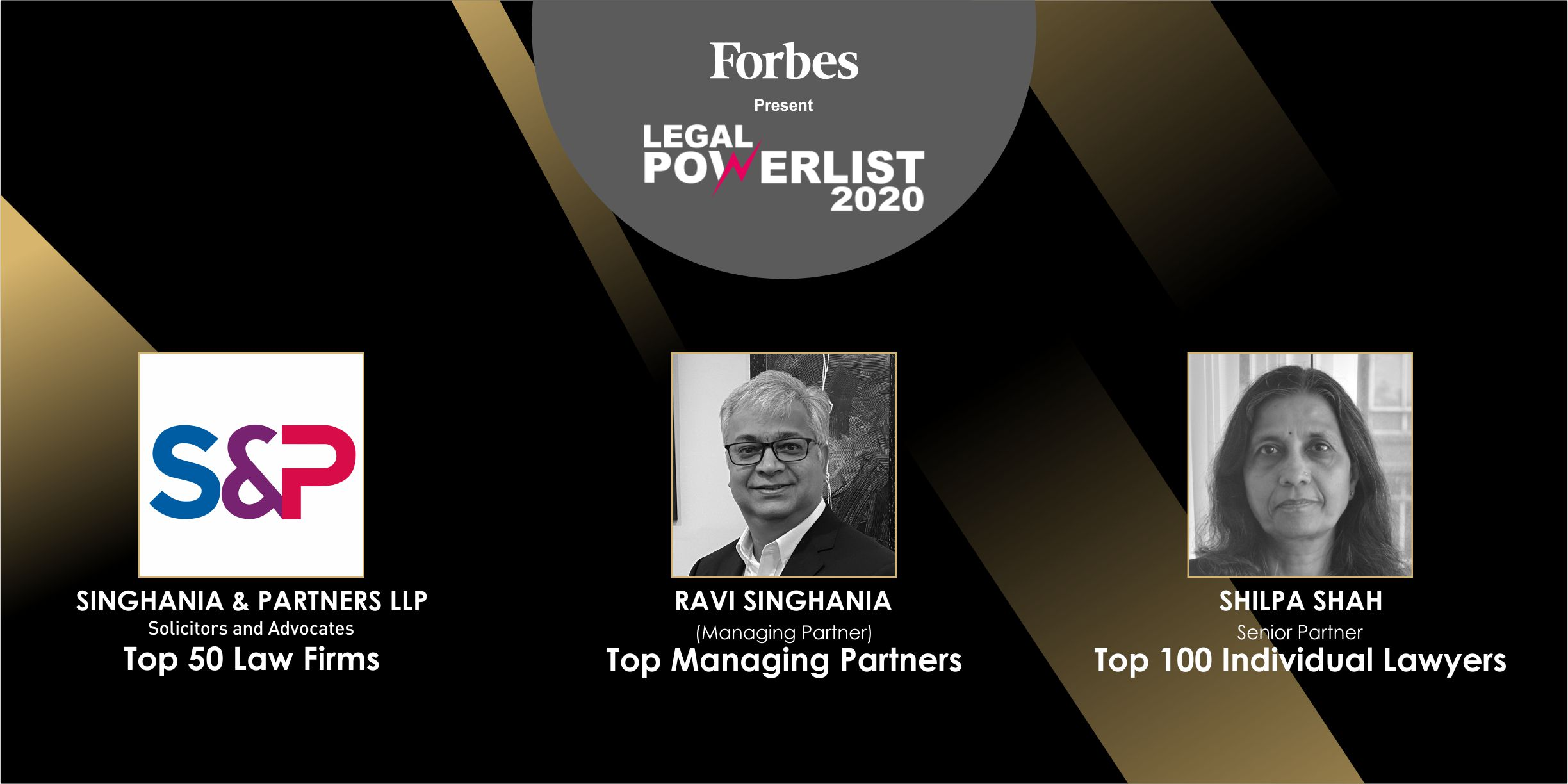 Hat-trick at Forbes India Legal Power List 2020